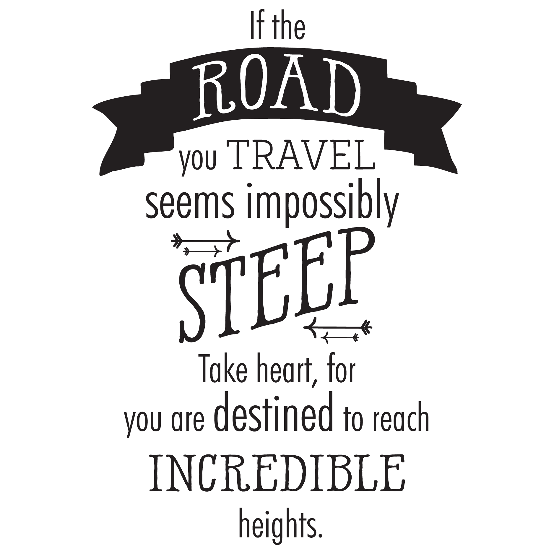 if the road you travel wall quotes u2122 decal