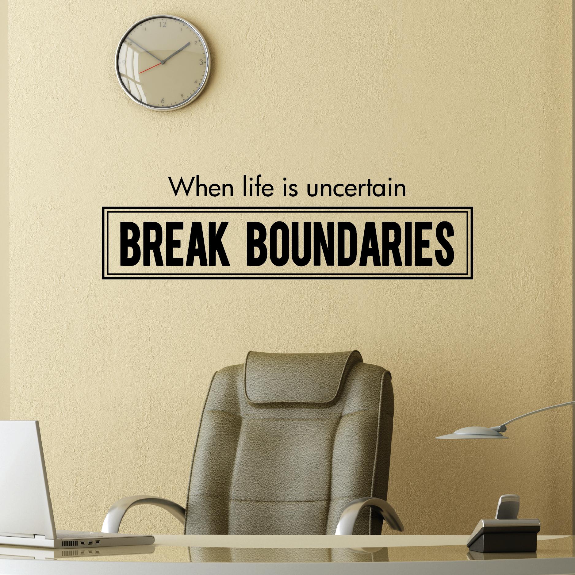 Break Boundaries Wall Quotes Decal Wallquotes Com