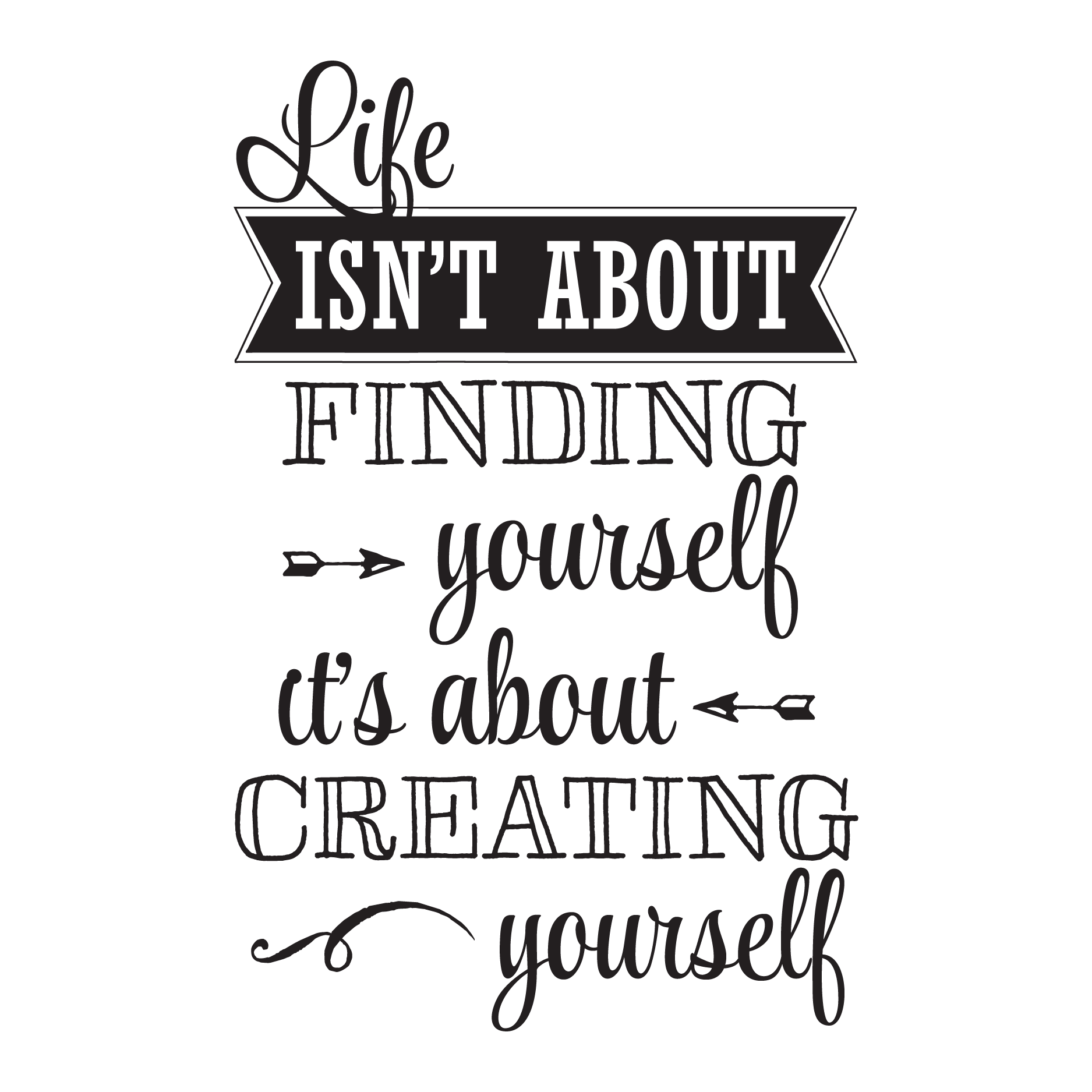 Creating yourself wall quotes decal wallquotes buycottarizona Images
