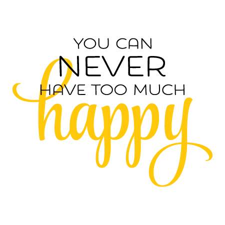 Never Too Much Happy Wall Quotes Decal Wallquotes Com