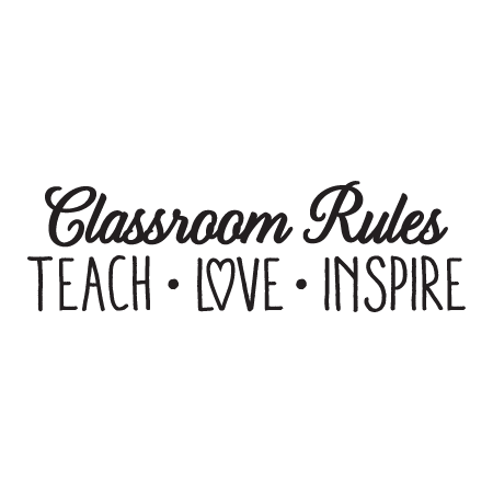 Classroom Rules Wall Quotes Decal Wallquotes Com