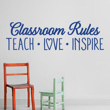 classroom rules wall quotes decal