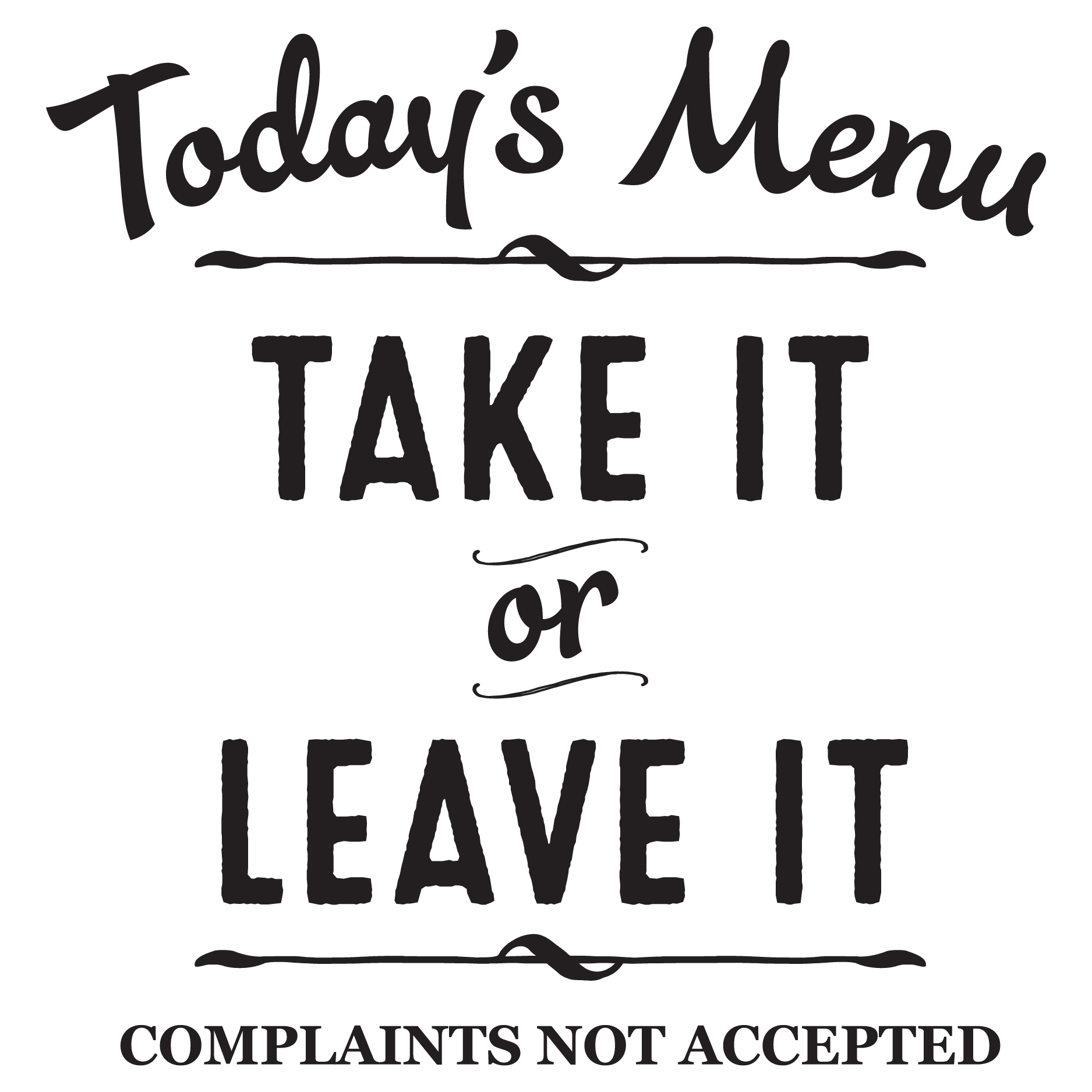 Todays Menu Wall Quotes Decal Wallquotes Com