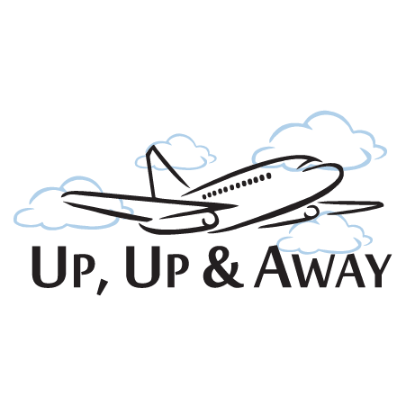 up up and away wall quotes. Black Bedroom Furniture Sets. Home Design Ideas