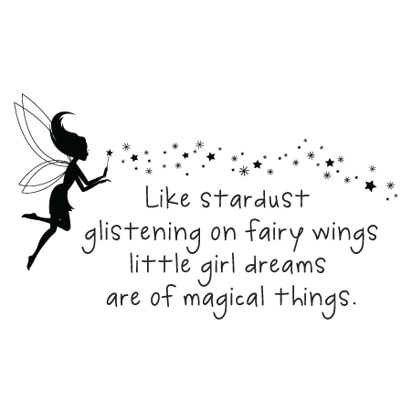 Little Girl Dreams Stardust Wall Quotes Decal
