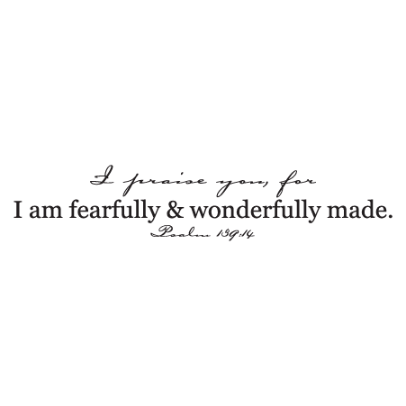 Fearfully And Wonderfully Carpenter Wall Quotes Decal