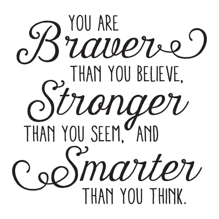 braver stronger smarter whimsy wall quotes u2122 decal Cheerleading Pom Poms Cheerleading Quotes