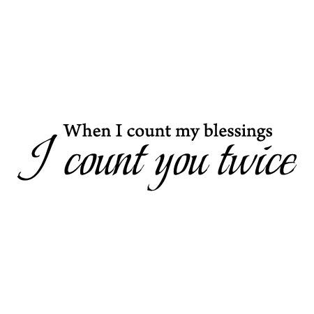 Count My Blessings Wall Quotes Decal Wallquotes Com
