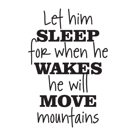 Let Him Sleep Retro Script Wall Quotes Decal Wallquotes Com