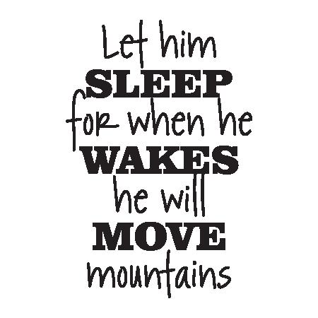 Let Him Sleep Retro Script Wall Quotes Decal Wallquotes Com