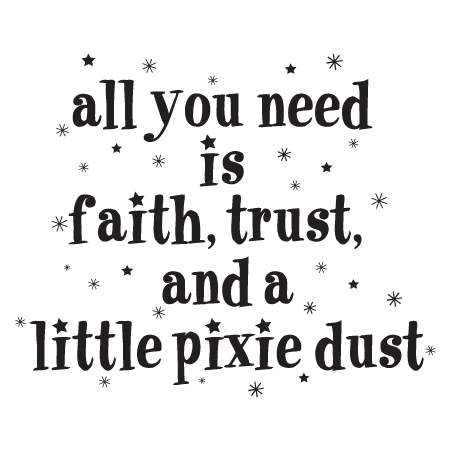 Faith Trust And Pixie Dust Wall Quotes Decal Wallquotes Com