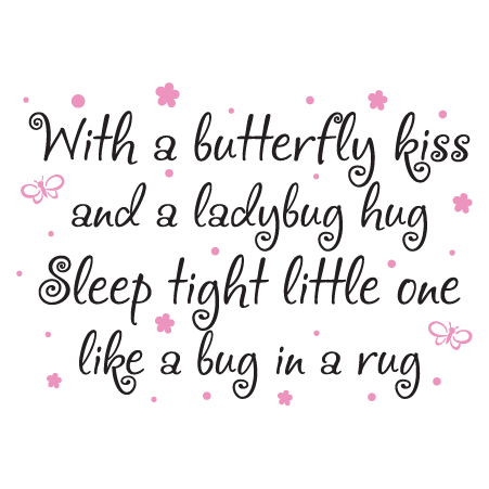 Whimsical Butterfly Kiss Wall Quotes Decal Wallquotes Com