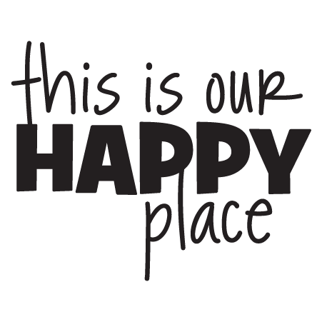 This Is Our Happy Place Wall Quotes Decal Wallquotes Com