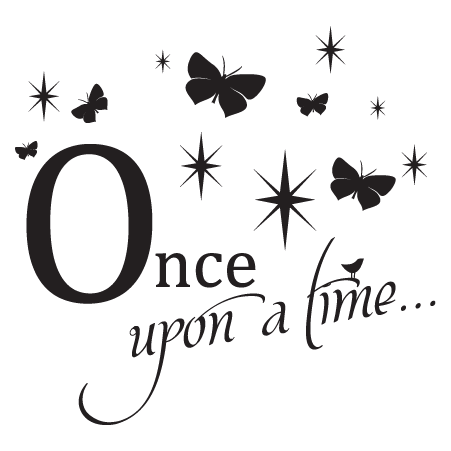 Once Upon A Time Butterfly Sparkles Wall Quotes Decal