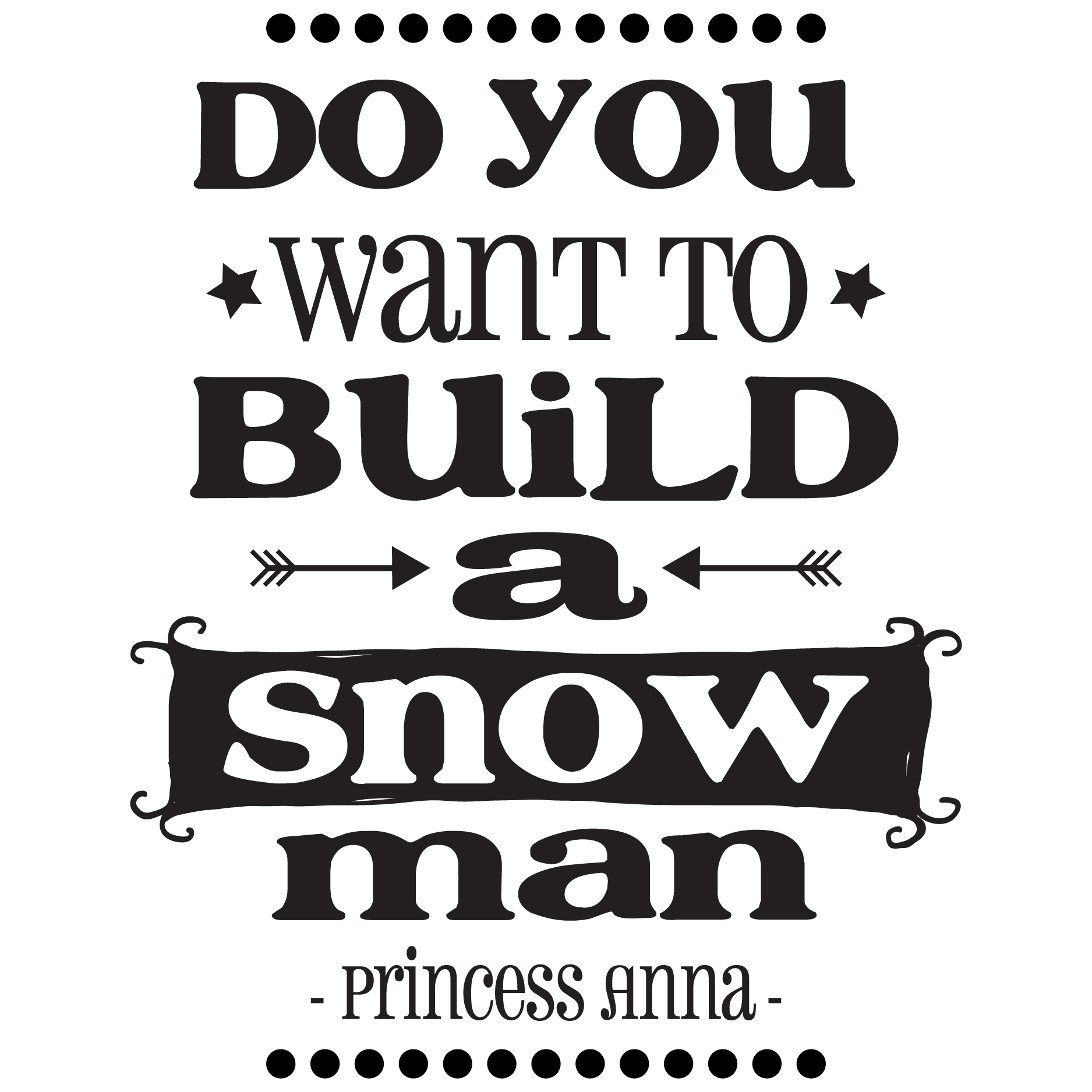 build a snowman wall quotes u2122 decal