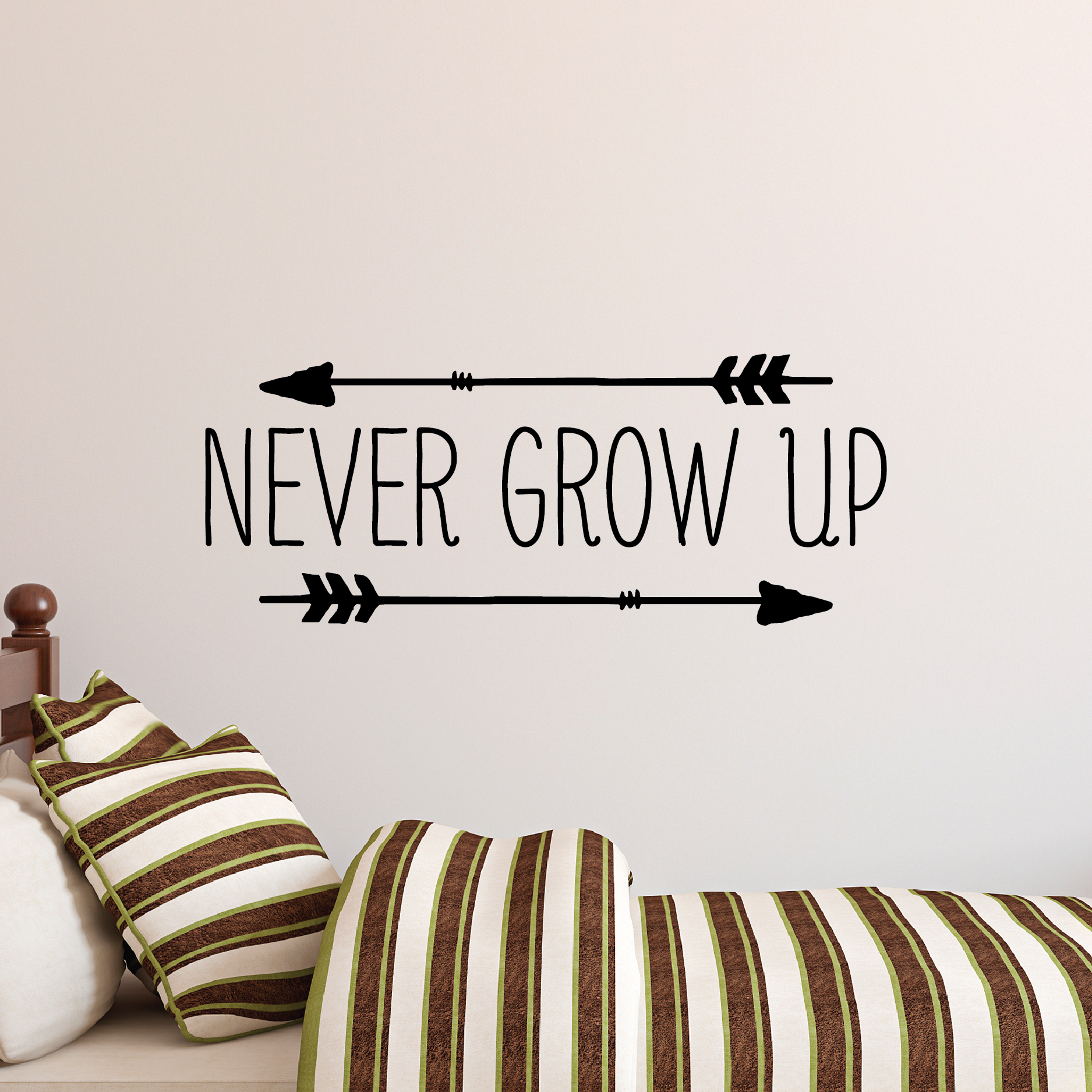 never grow up wall quotes u2122 decal