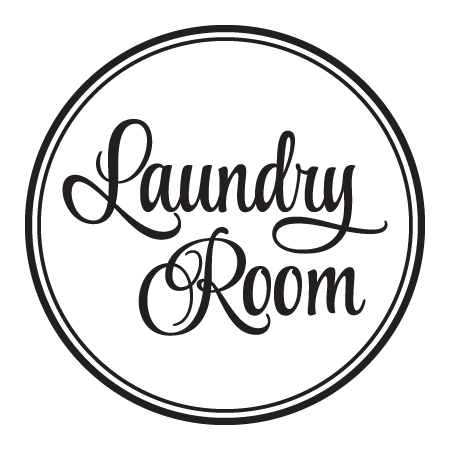 Laundry Room Script Double Circle Wall Quotes Decal