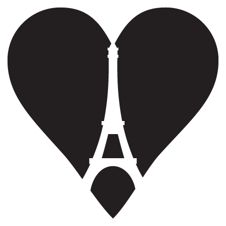 Eiffel Tower Heart Wall Quotes Decal Wallquotes Com