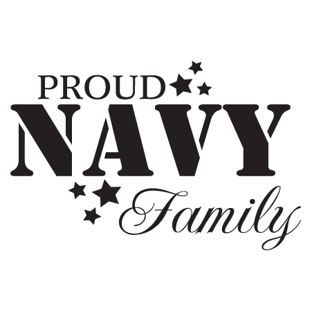 Proud Navy Family Wall Quotes Decal Wallquotes Com