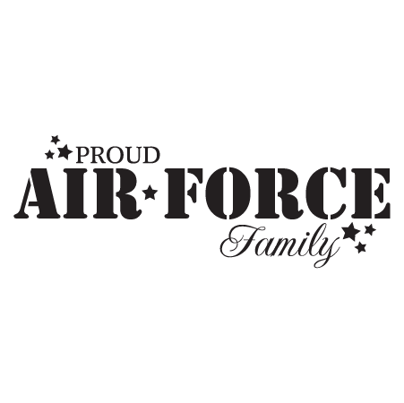 Proud Air Force Family Wall Quotes Decal Wallquotes Com