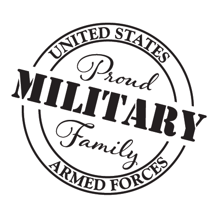 Military Family Car Sticker Wall Quotes Decal