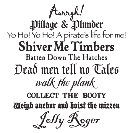 Pirate Phrases Subway Art Wall Quotes Decal Wallquotes Com