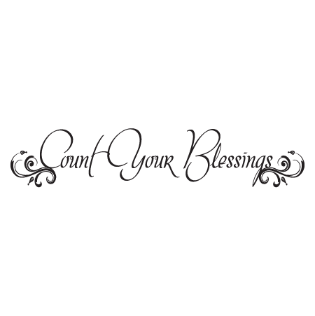 Embellished Count Your Blessings Wall Quotes Decal