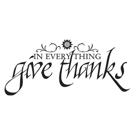 Give Thanks Calligraphy Wall Quotes Decal WallQuotescom