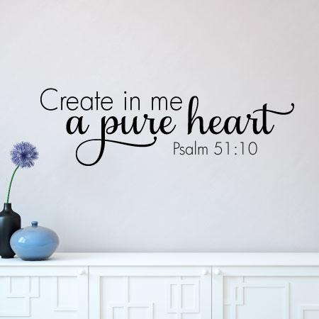Pure Heart Wall Quotes Decal Wallquotes Com