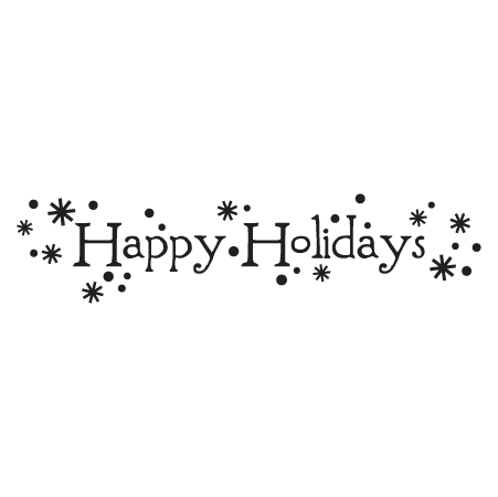 Whimsical Happy Holidays Wall Quotes Decal Wallquotes Com