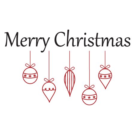 Merry Christmas Ornament Cluster Wall Quotes Decal