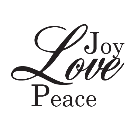 Joy Love Peace Wall Quotes Decal Wallquotes Com