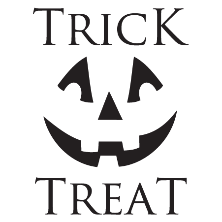 Trick Or Treat Jack O Lantern Wall Quotes Decal