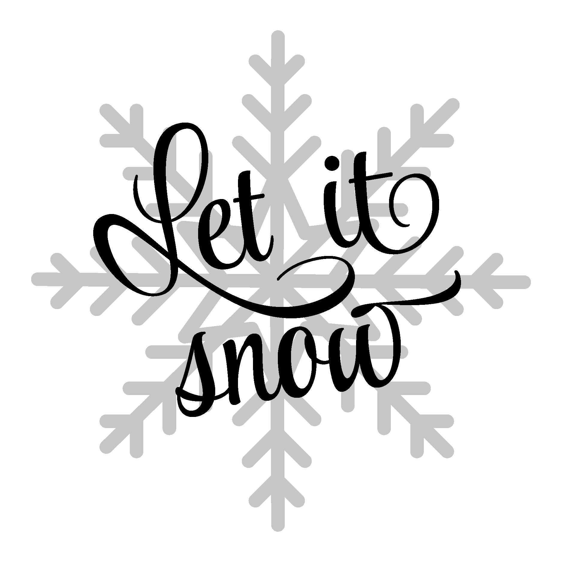 Let It Snow Snowflake Wall Quotes™ Decal