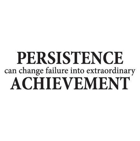 Persistence And Achievement Wall Quotes Decal