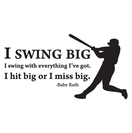 Swing Big Wall Quotes Decal Wallquotes Com