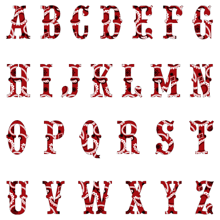 Cowboy Bandana Textstyles Canvas Letter Decals