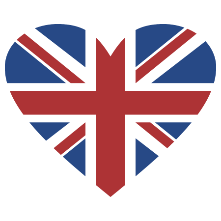 Union Jack Heart Wall Quotes Wall Art Decal Wallquotes Com